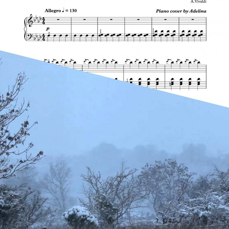 """Winter"" – Vivaldi – Piano Sheet Music"