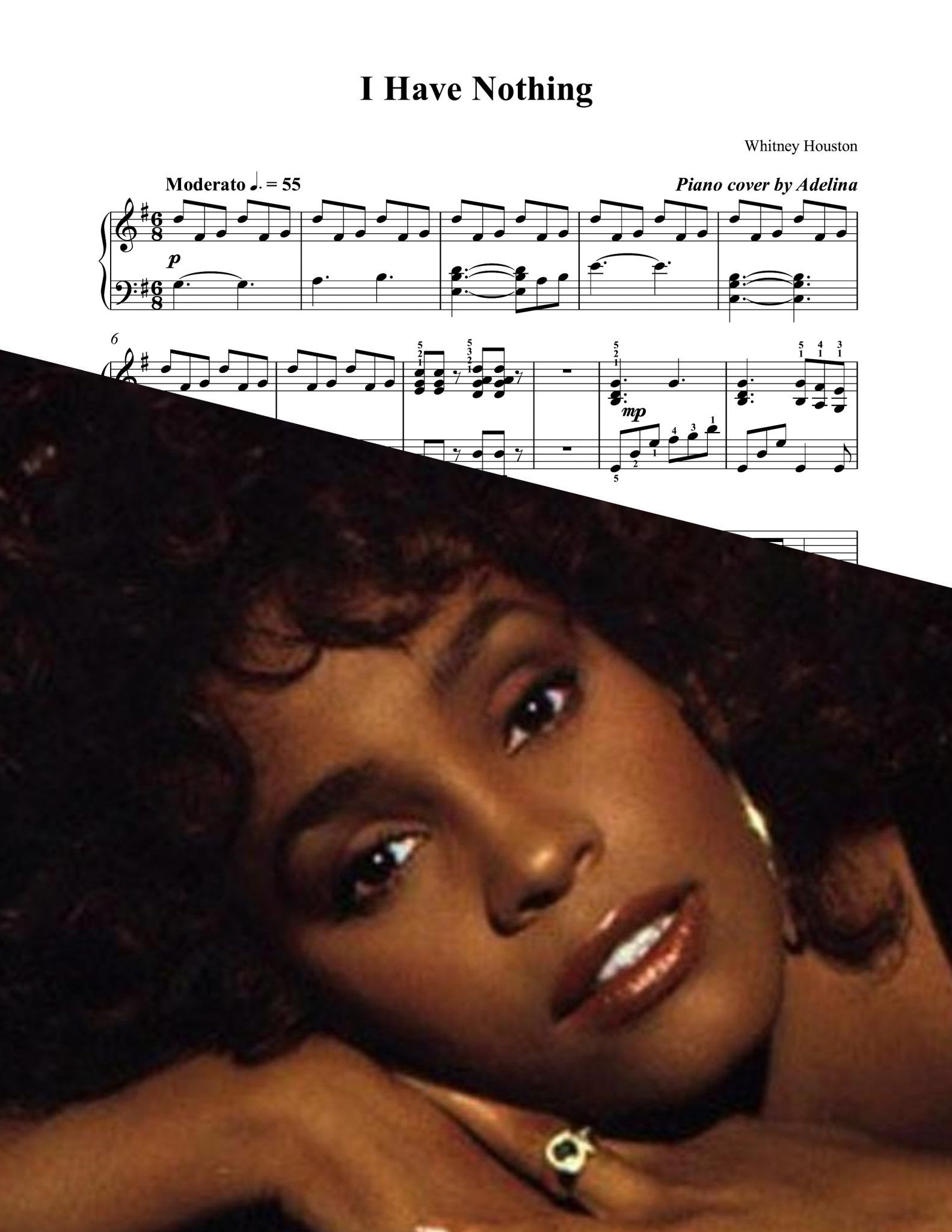 whitney houston i have nothing piano pdf