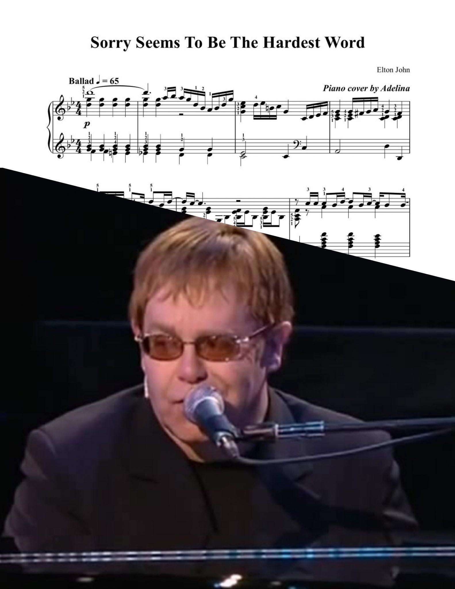 Elton john sorry seems to be the hardest word lyrics