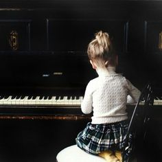 Young girl on piano