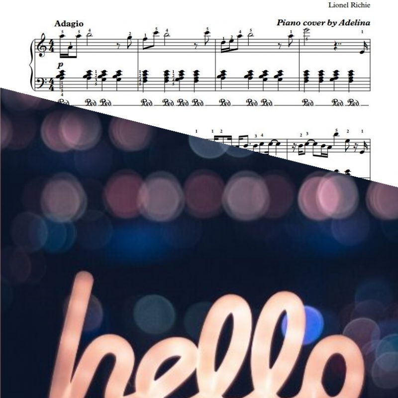 """Hello"" – Lionel Richie – Piano Sheet Music"