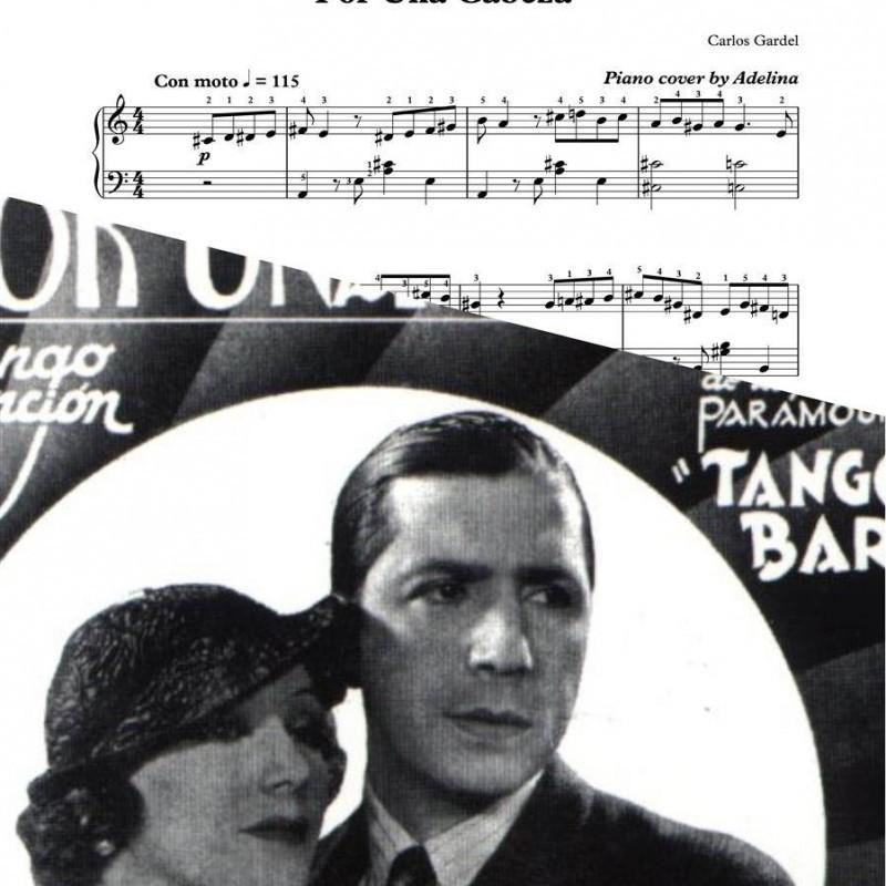 """""""Por una cabeza"""" – Carlos Gardel – Piano Sheet Music"""