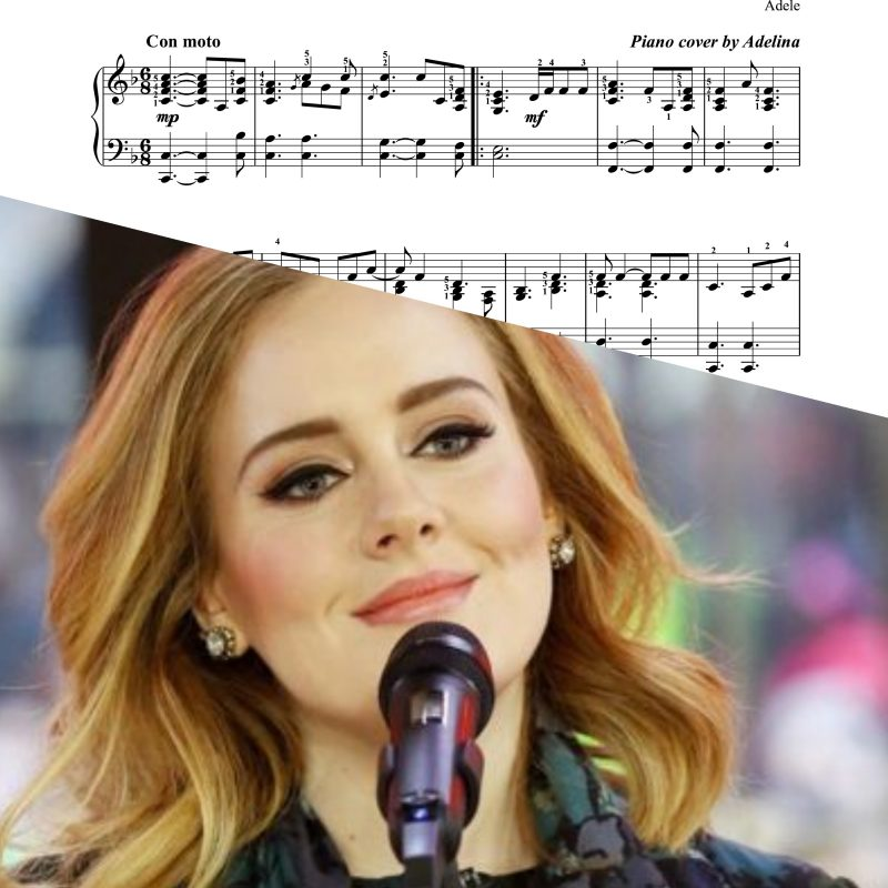 """""""One and only"""" – Adele – Piano Sheet Music"""