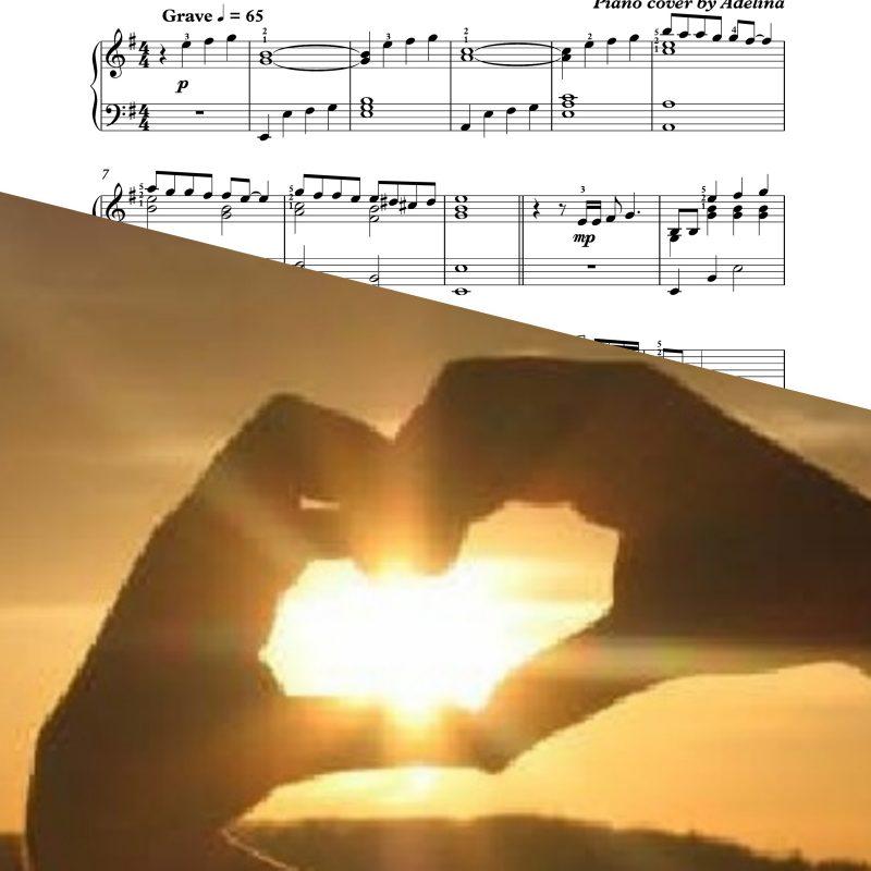 """""""Un amore grande"""" – Peppino Gagliardi – Piano Sheet Music"""