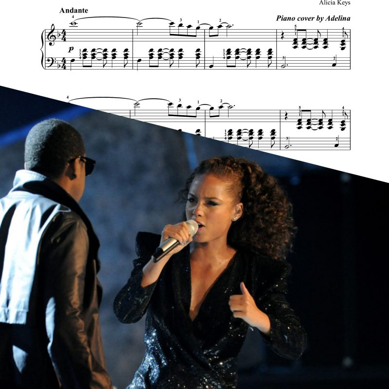 """Empire state of mind"" – Alicia Keys – Piano Sheet Music"