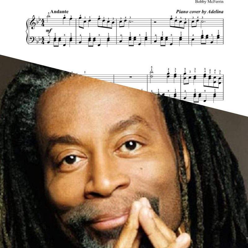 """Don't worry be happy"" – Bobby McFerrin – Piano Sheet Music"