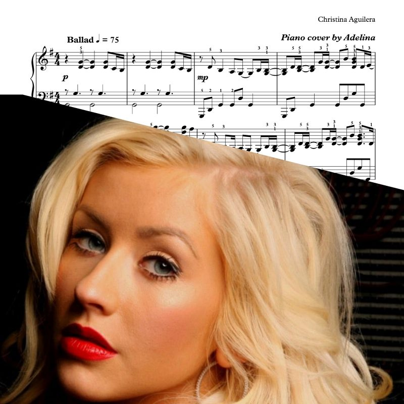 """The Voice Within"" – Christina Aguilera – Piano Sheet Music"