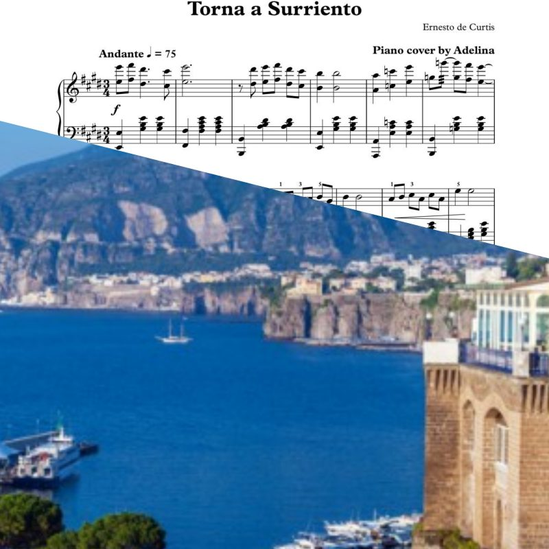 """Torna a surriento"" – Ernesto de Curtis – Piano Sheet Music"