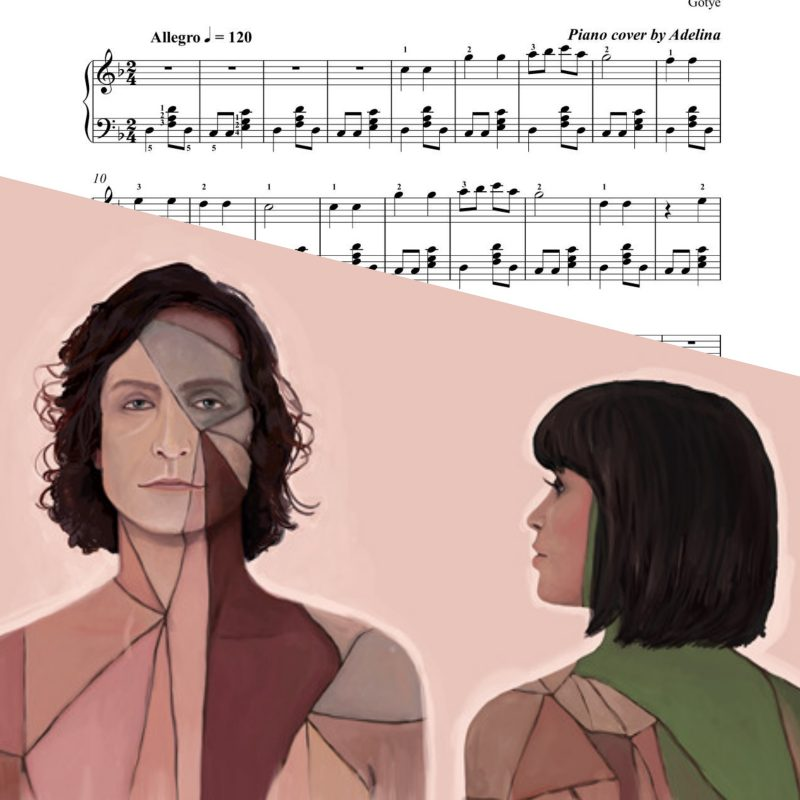 """Somebody that I used to know"" – Gotye – Piano Sheet Music"