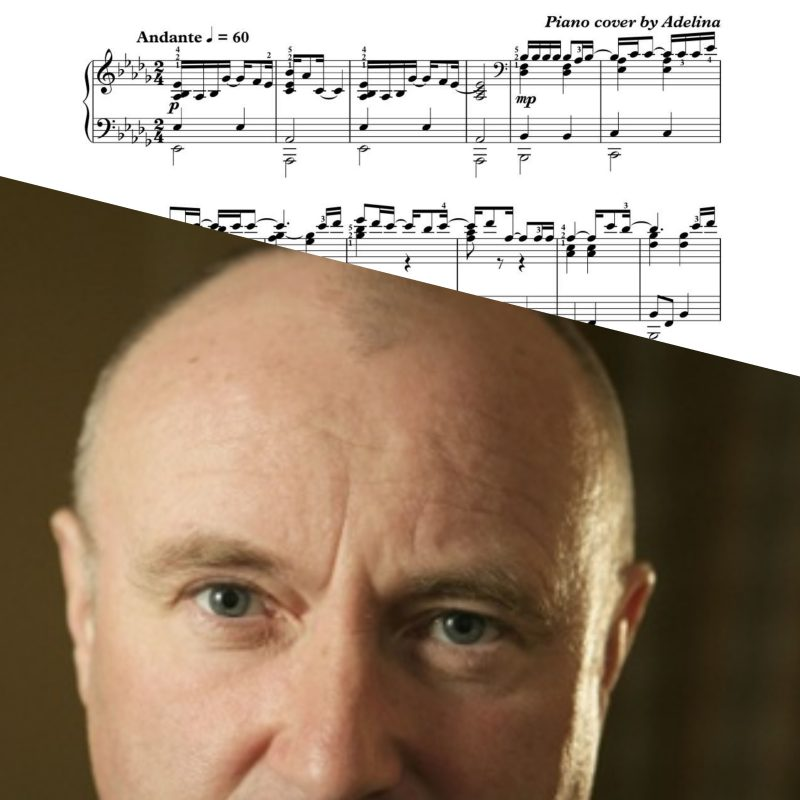 """""""Against all odds"""" – Phil Collins – Piano Sheet Music"""