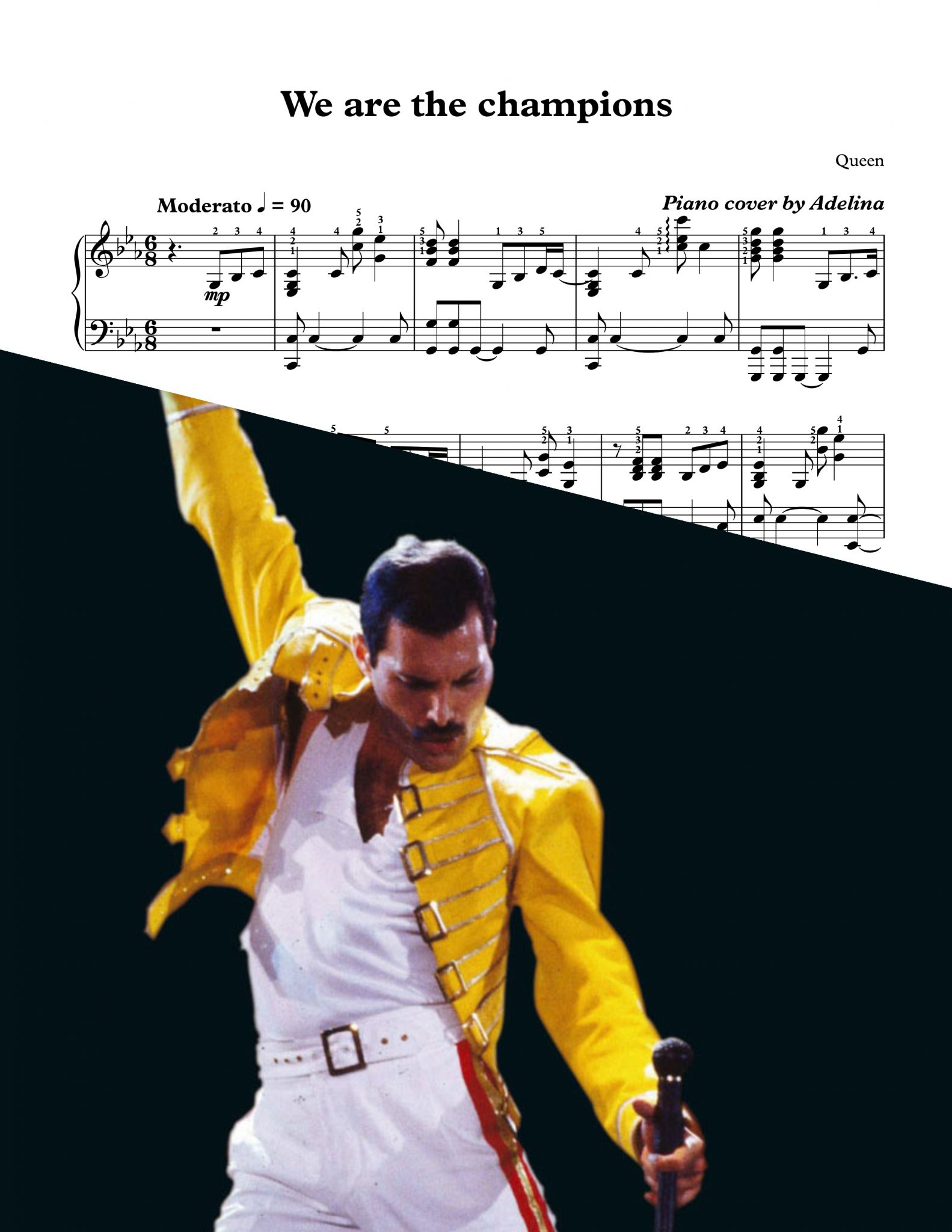 """We are the champions"" - Queen - Piano Sheet Music"
