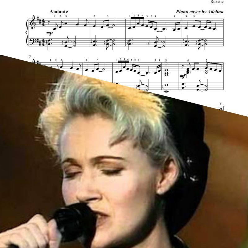 """""""Listen to your heart"""" – Roxette – Piano Sheet Music"""