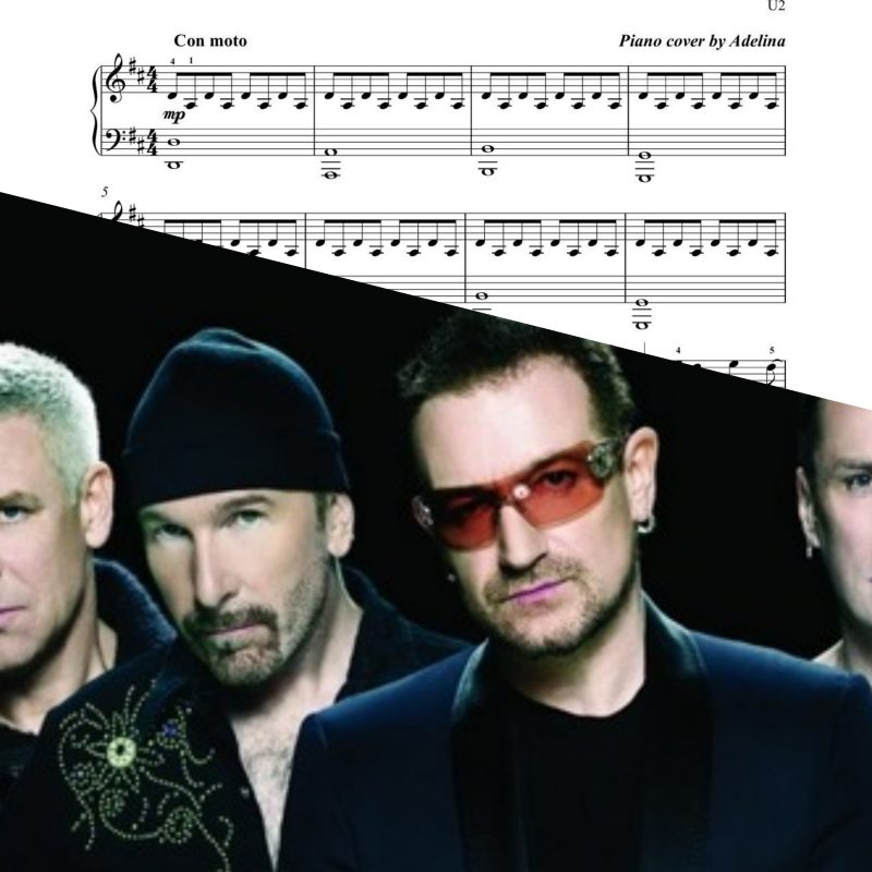 """""""With or without you"""" – U2 – Piano Sheet Music"""