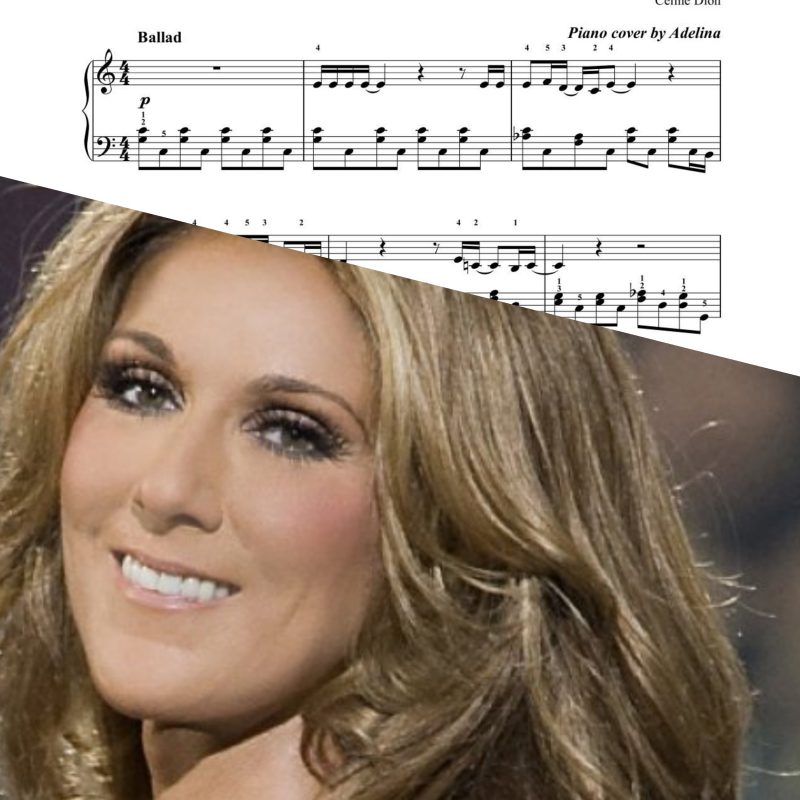 """""""All by myself"""" – Celine Dion – Piano Sheets – easy version"""