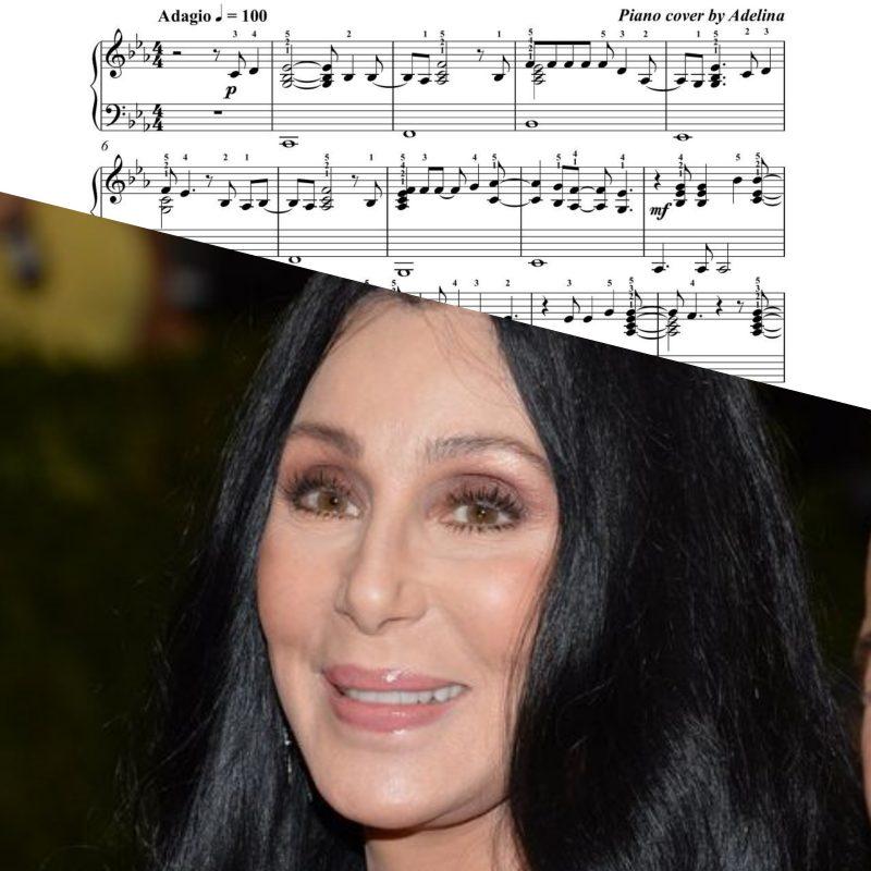 """Strong enough"" – Cher – Piano Sheet Music"