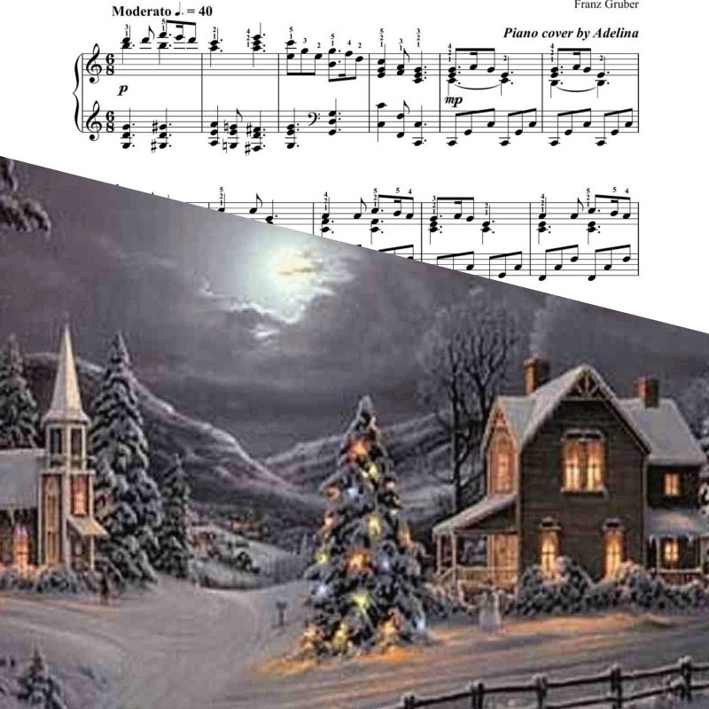 """Silent Night"" – Franz Gruber – Piano Sheet Music"