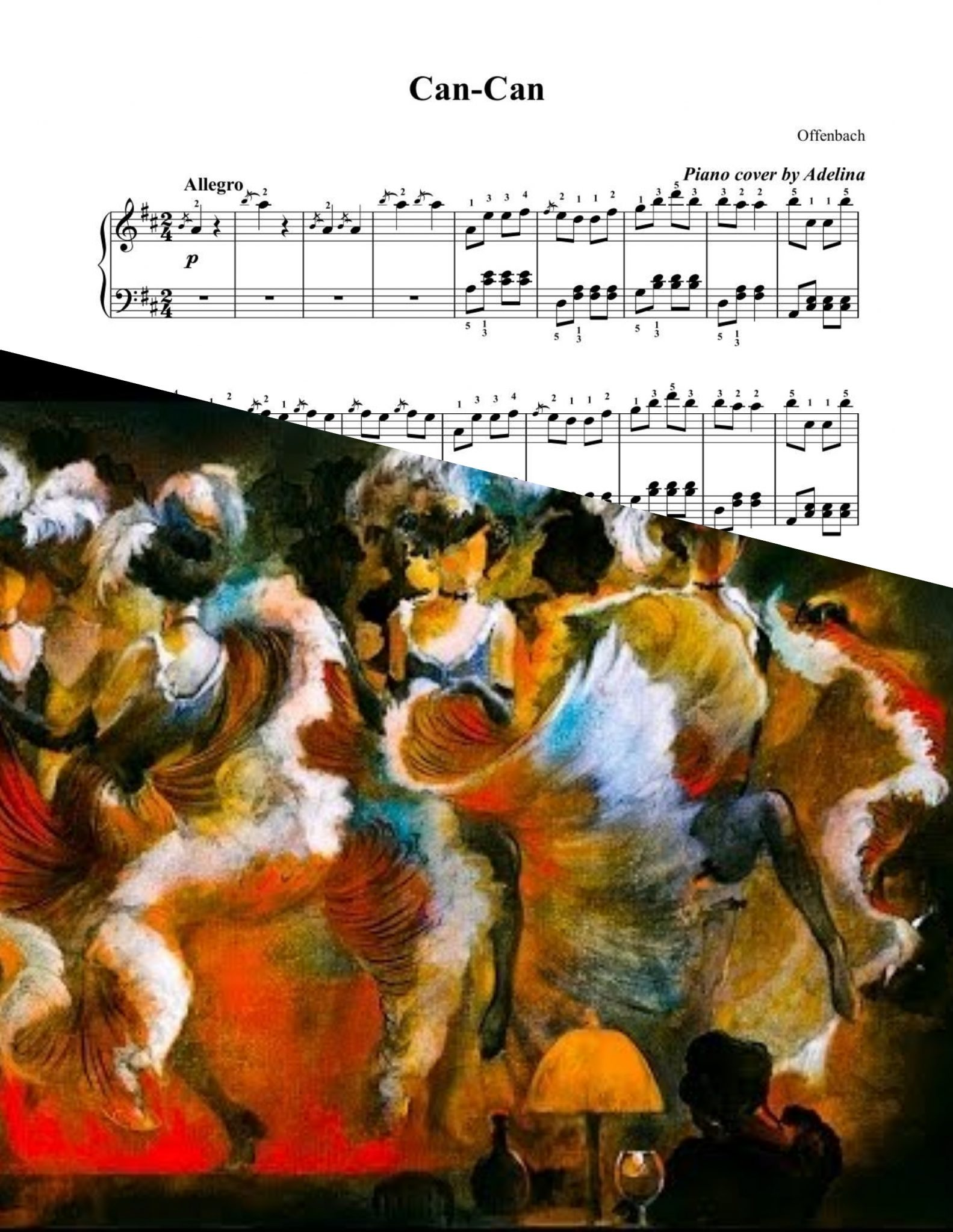 Can can offenbach piano sheet music for Hs offenbach