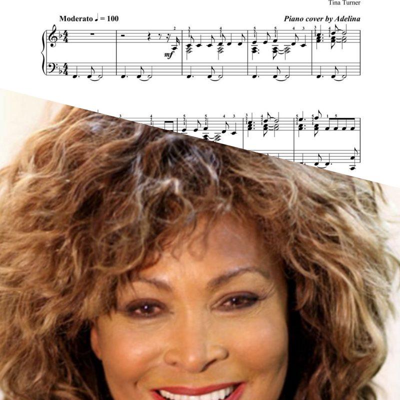 """""""The best"""" – Tina Turner – Piano Sheet Music"""