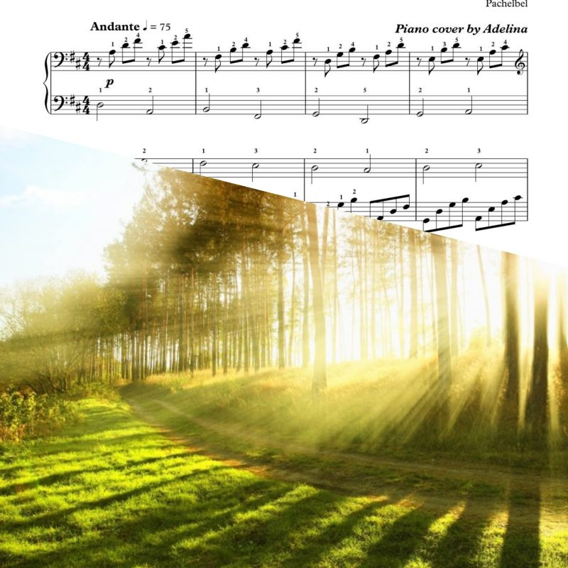 """Canon in D"" – Pachelbel – Piano Sheet Music"