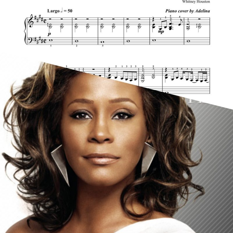 """I look to you"" – Whitney Houston – Piano Sheet Music"