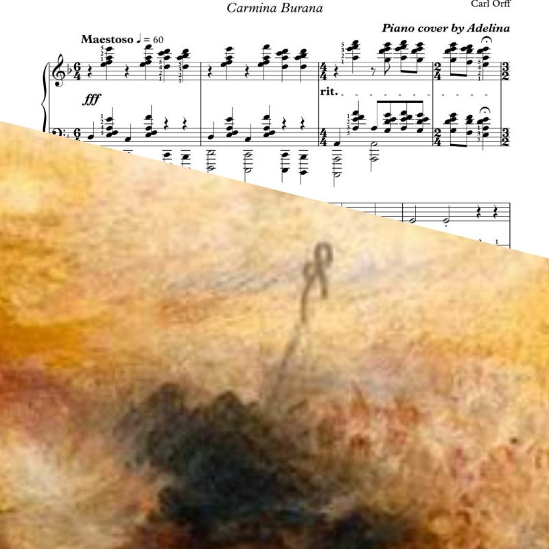 """O Fortuna"" – Carl Orff – Piano Sheet Music"