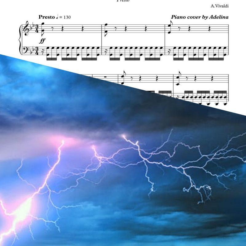 """Summer"" – ""Four Seasons""- Vivaldi – Piano Sheet Music"