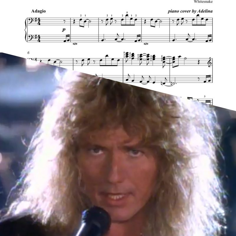 """Is This Love"" – Whitesnake – Piano Sheet Music"