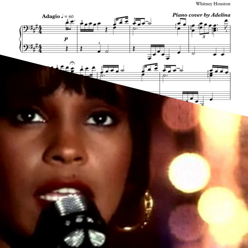 """I Will Always Love You"" – Whitney Houston – Piano Sheet Music"
