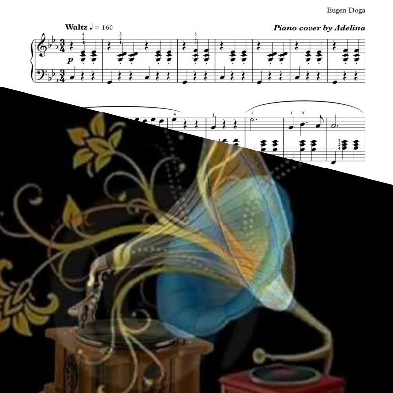 """Gramofon Waltz"" – Eugen Doga – Piano Sheet Music"