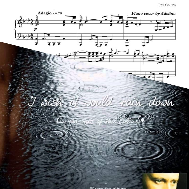 """I Wish It Would Rain Down"" – Phil Collins – Sheet Music"