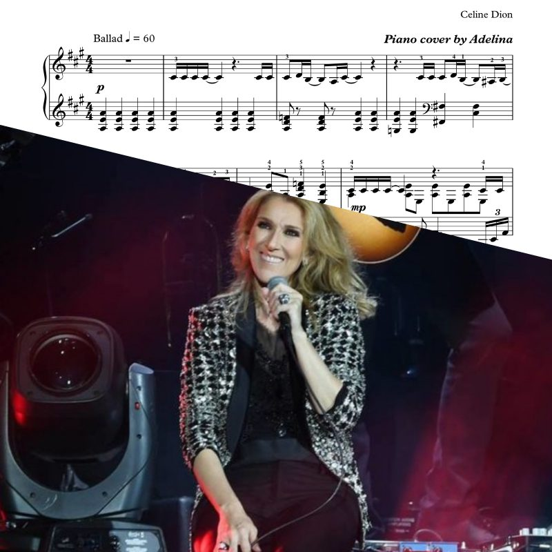 """All By Myself"" – Celine Dion – Piano Sheet Music"