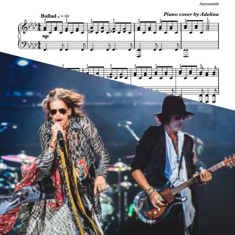 """Dream On"" – Aerosmith – Piano Sheet Music"