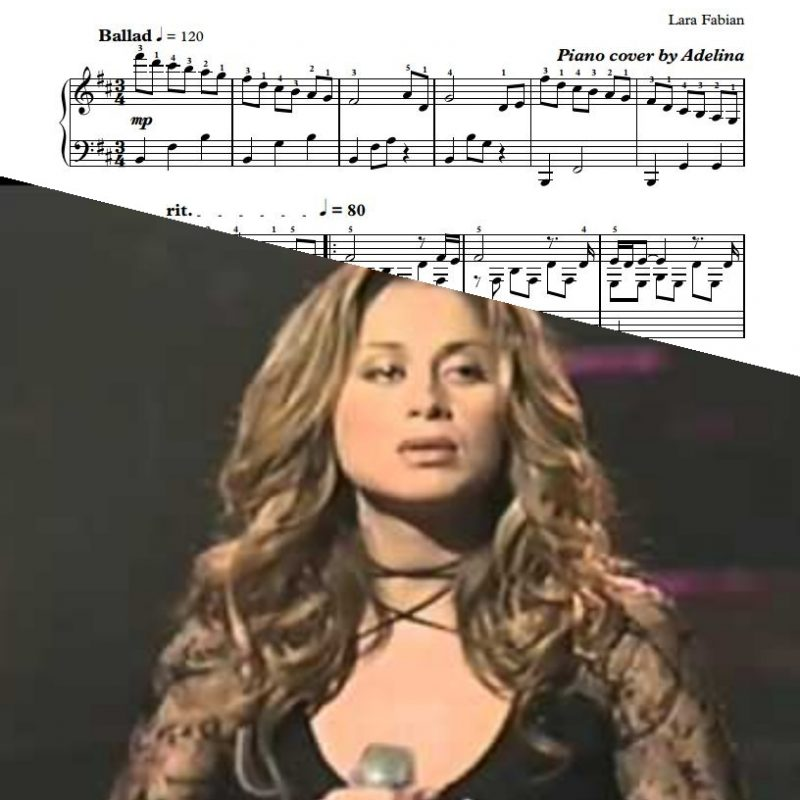 """""""Je Suis Malade"""" – Lara Fabian – Piano Sheet Music"""