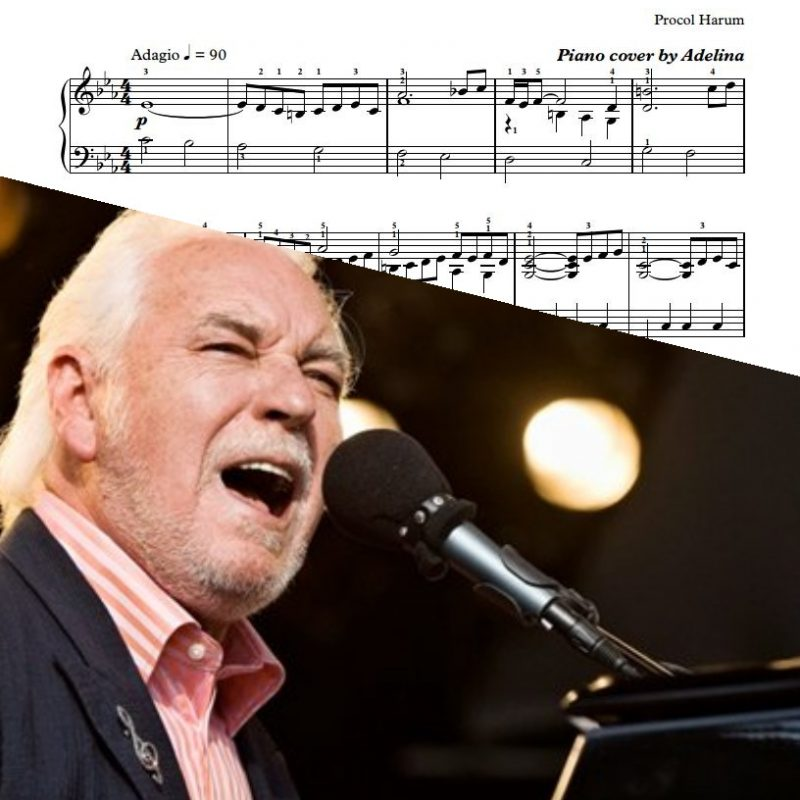 """A Whiter Shade Of Pale"" – Procol Harum – Piano Sheets"