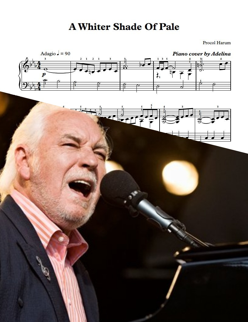 Quot A Whiter Shade Of Pale Quot Procol Harum Piano Sheets
