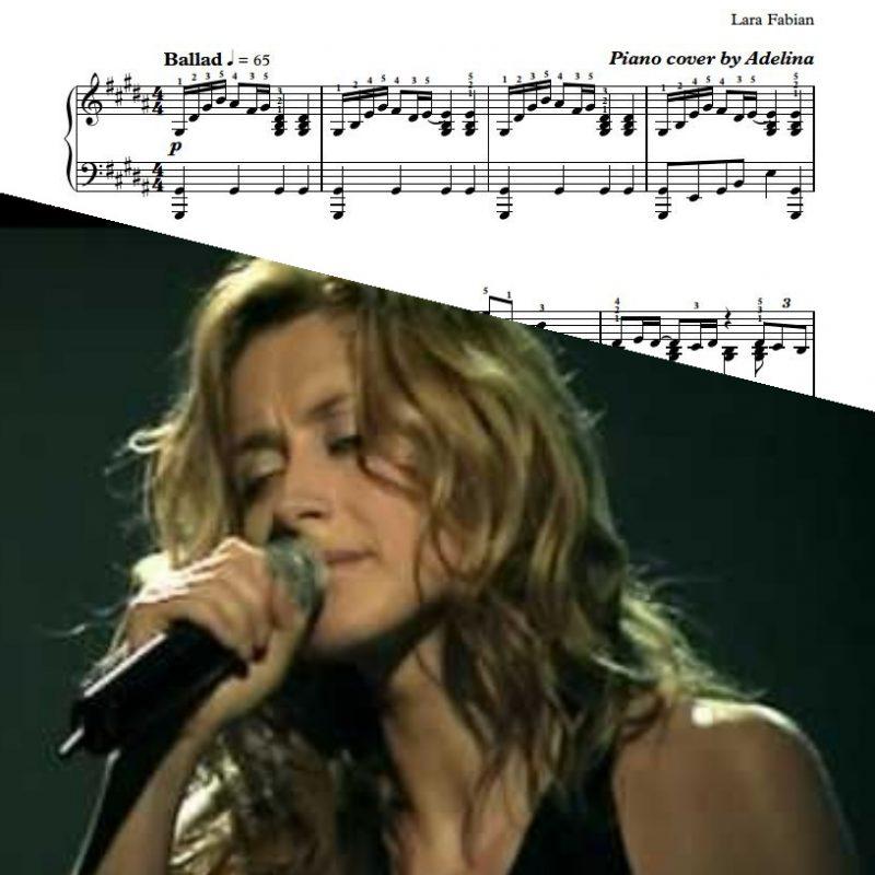 """""""Parce Que Tu Pars"""" – Lara Fabian – Piano sheets"""