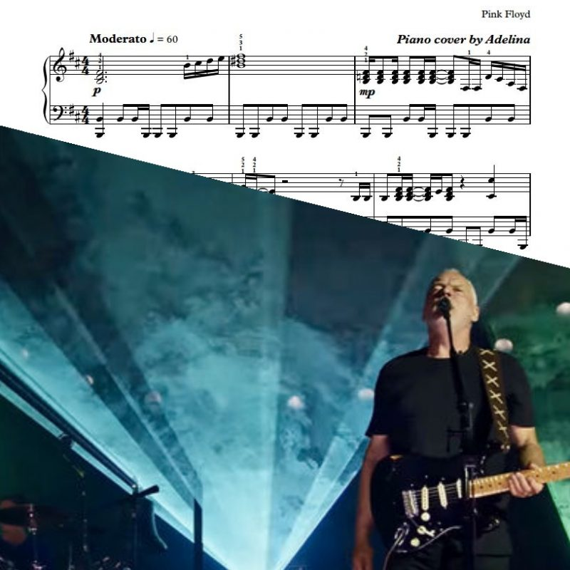 """Comfortably Numb"" – Pink Floyd – Piano Sheets"