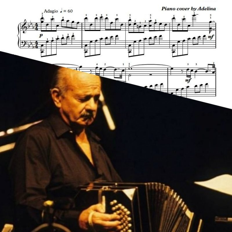 """Oblivion"" – A.Piazzolla – Piano Sheet Music"