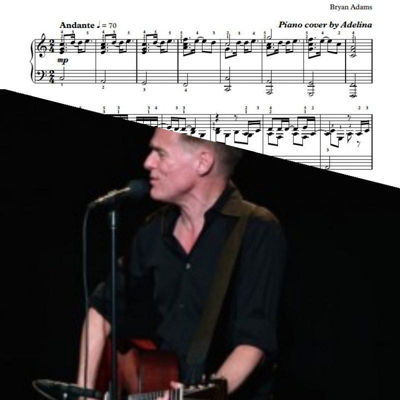 """""""Heaven"""" – Bryan Adams – Piano Sheet Music"""