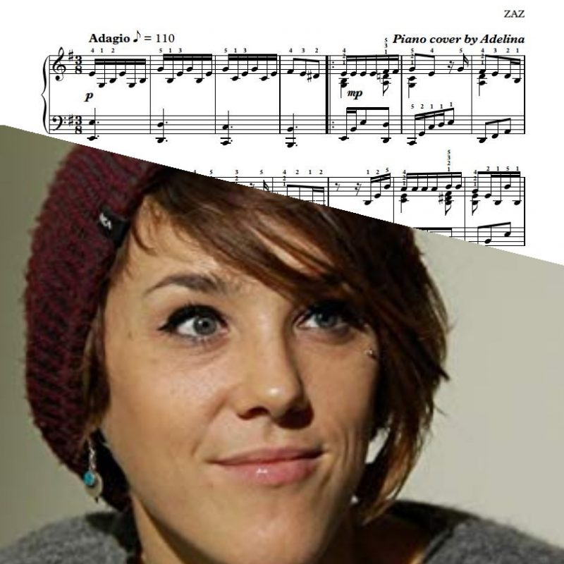 """La Tendresse"" – ZAZ – Piano Sheet Music"