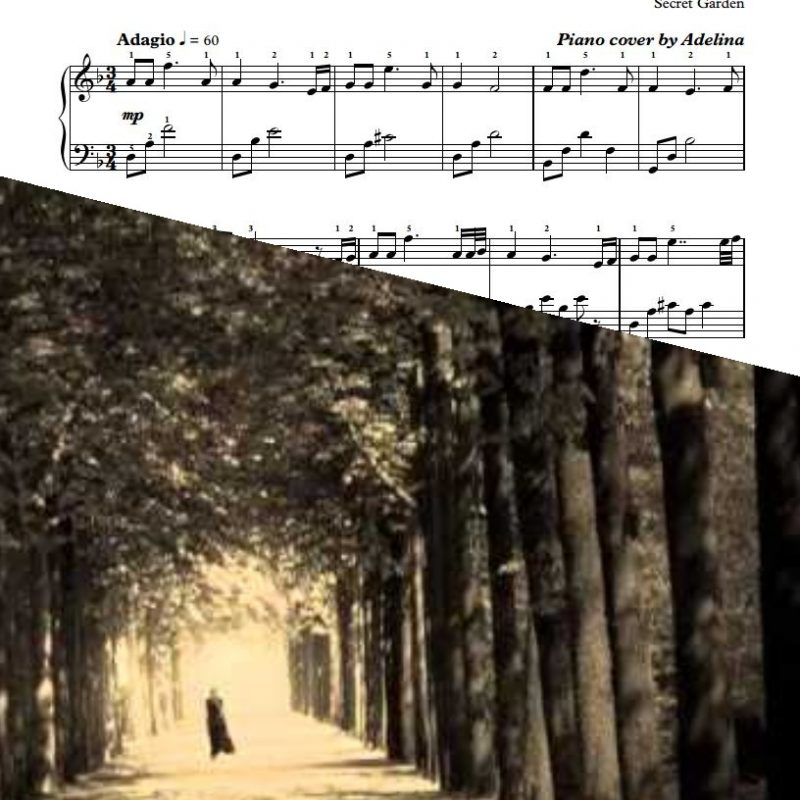 """Searching For The Past"" – Secret Garden – Piano Sheet Music"