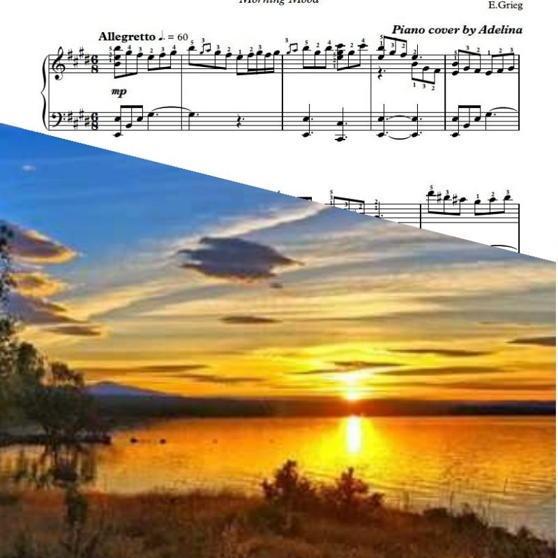 """Peer Gynt – Morning Mood"" – Edvard Grieg – Piano Sheet Music"