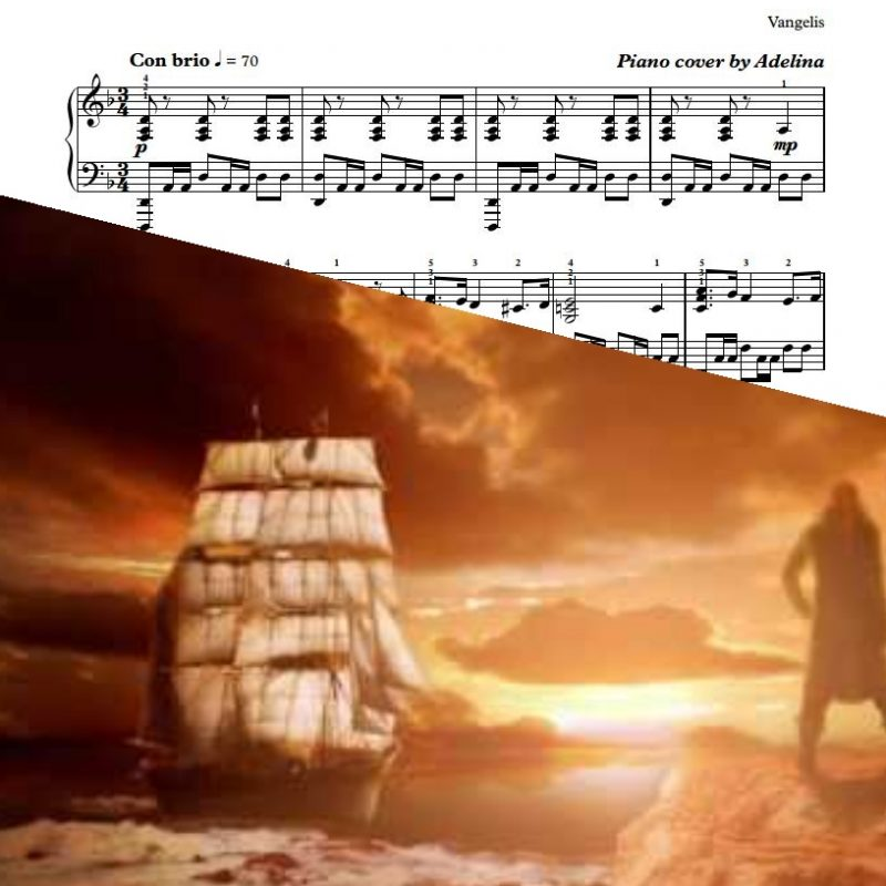 """Conquest Of Paradise"" – Vangelis – Piano Sheet Music"