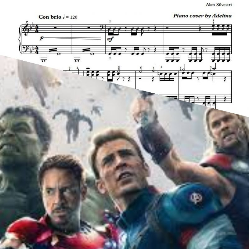 """Main Theme"" – The Avengers – Piano Sheet Music"