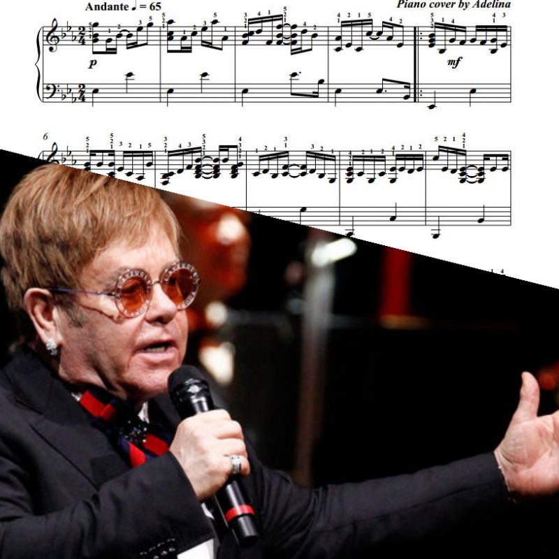 """Your Song"" – Elton John – Piano Sheet Music"