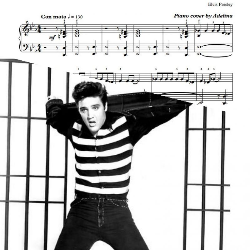 """Jailhouse Rock"" – Elvis Presley – Piano Sheet Music"