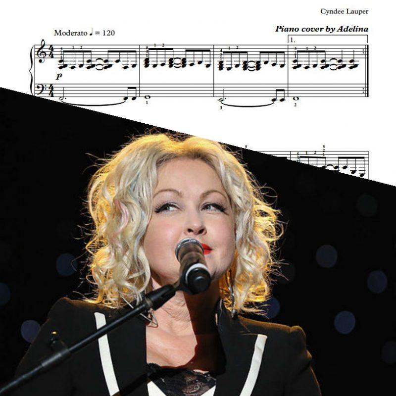 """Time After Time"" – Cyndi Lauper – Piano Sheet Music"