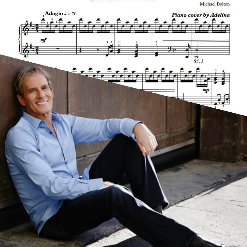 """Go The Distance"" – Michael Bolton – Piano Sheet Music"