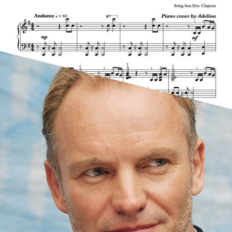"""It's Probably Me"" – Sting feat.Eric Clapton – Piano Sheet Music"