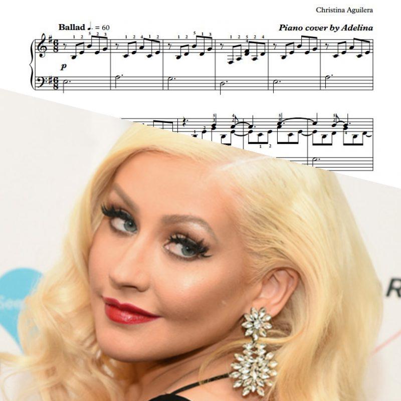 """Bound to You"" – Christina Aguilera – Piano Sheet Music"